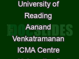 Analytic Approximations for Spread Options Carol Alexander ICMA Centre University of Reading Aanand Venkatramanan ICMA Centre University of Reading First Version August  June   ICMA Centre Discussion