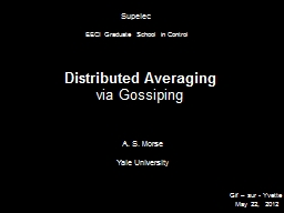 Distributed Averaging