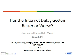 Has the Internet Delay Gotten Better or Worse? PowerPoint PPT Presentation