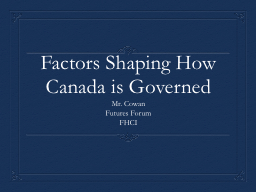 Factors Shaping How Canada is Governed PowerPoint PPT Presentation