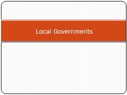 Local Governments PowerPoint PPT Presentation
