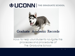 Graduate Academic Records PowerPoint PPT Presentation