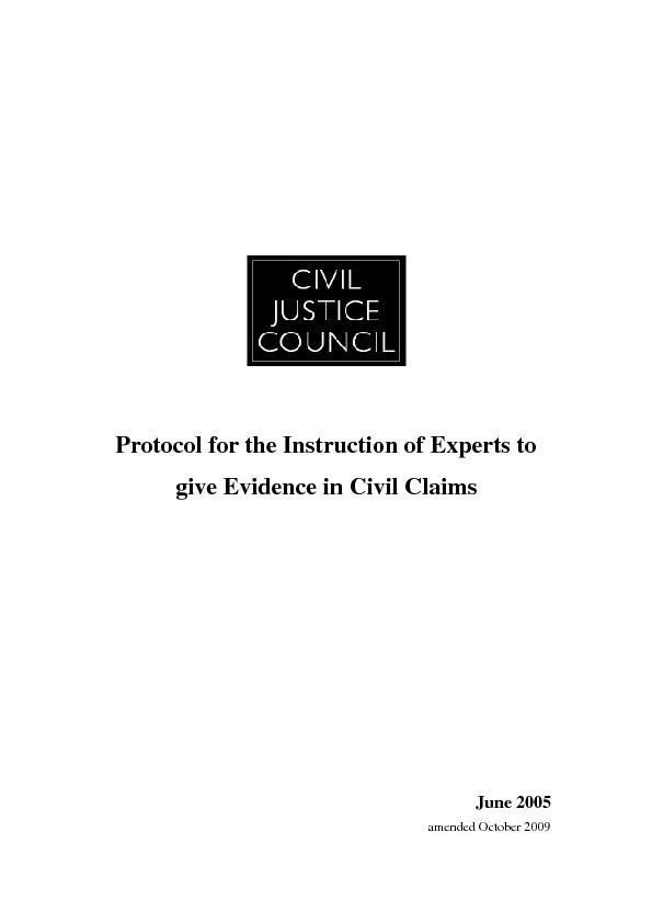 Protocol for the Instruction of Experts to