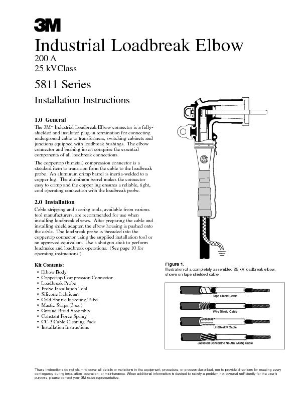 General the cooper power systems loadbreak elbow conne pdf