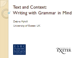 Text and Context: PowerPoint Presentation, PPT - DocSlides