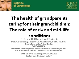 The health of grandparents caring for their grandchildren: