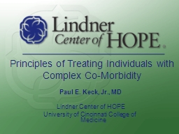 Principles of Treating Individuals with Complex Co-Morbidit PowerPoint PPT Presentation
