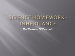 Science Homework - Inheritance
