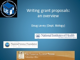 Writing grant proposals: