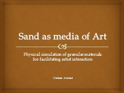 Sand as media of Art PowerPoint PPT Presentation