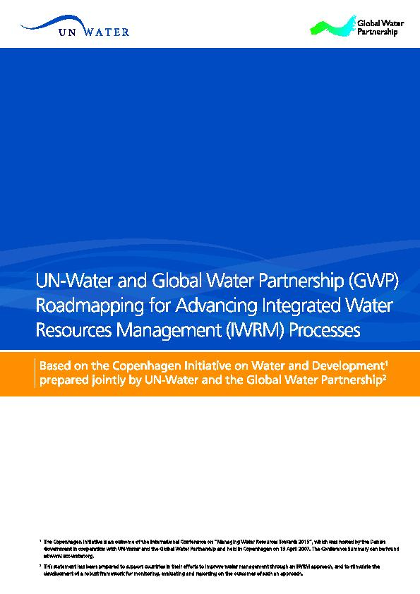 Based on the Copenhagen Initiative on Water and Developmentprepared jo