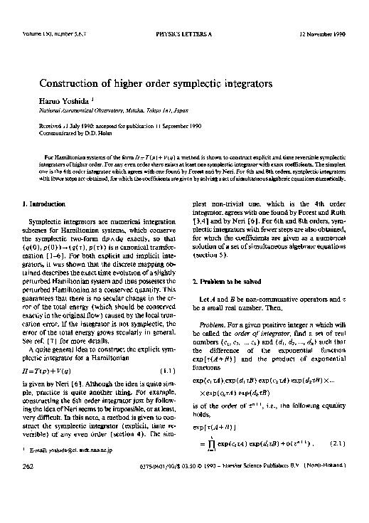150, number 5,6,7 PHYSICS LETTERS A 12 November 1990