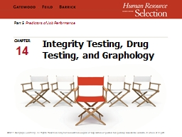 Integrity Testing, Drug Testing, and Graphology PowerPoint PPT Presentation