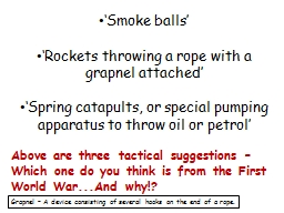 'Smoke balls' PowerPoint PPT Presentation