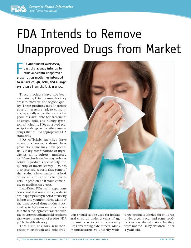1 / FDA Consumer Health Information / U.S. Food and Drug Administratio