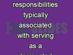 Accreditation Coordinator Duties This document describes the roles and responsibilities typically associated with serving as a designated Accreditation Coordinator AC for a local health department LH