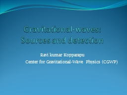 Gravitational-waves: