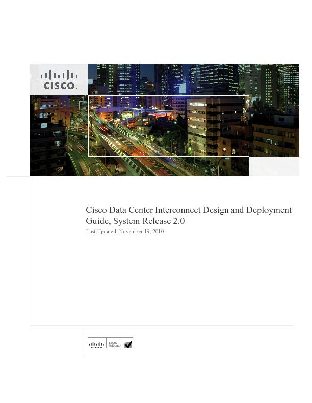 Cisco Data Center Interconnect Design and Deployment Guide, System Rel