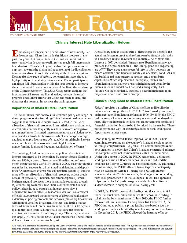 Asia Focus is a periodic newsleer issued by the Country Analysis Unit