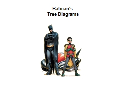 Batman's PowerPoint PPT Presentation