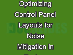 May   WP Unified Physical Infrastructure SM Solutions for Industrial Automation Optimizing Control Panel Layouts for Noise Mitigation in Factory Automation Systems Authors Dan McGrath Solutions Manag