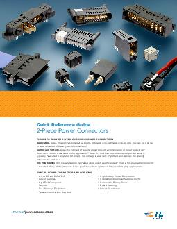tecompowerconnectors Piece Power Connectors TE Connectivity Quick Reference Guide Piece Power Connectors THINGS TO CONSIDER WHEN CHOOSING POWER CONNECTORS Application PowerPoint PPT Presentation