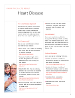 KNOW THE FACTS ABOUT Heart Disease  What is heart disease Heart disease is the l