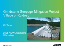 Grindstone Seepage Mitigation Project