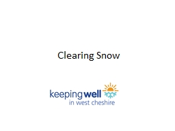 Clearing Snow PowerPoint PPT Presentation