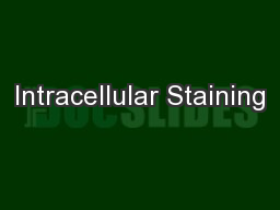 Intracellular Staining