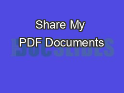Share My PDF Documents