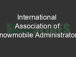 International Association of Snowmobile Administrators