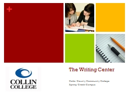 The Writing Center PowerPoint PPT Presentation