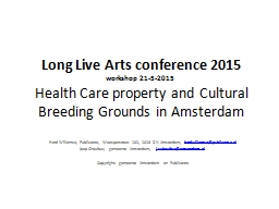 Long Live Arts conference 2015