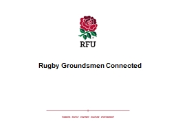 RUGBY GROUNDSMEN CONNECTED