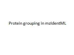 Protein grouping in
