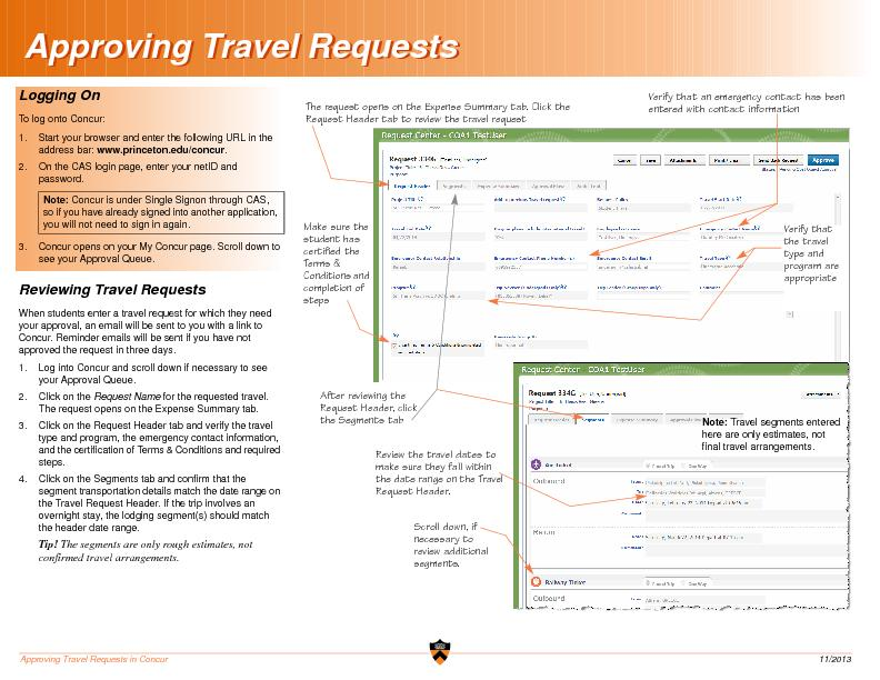 Approving Travel Requests in Concur  11/2013