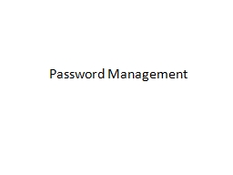 Password Management PowerPoint PPT Presentation