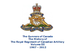 The Gunners of Canada