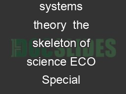 Boulding General systems theory  the skeleton of science ECO Special Double Issue Vol