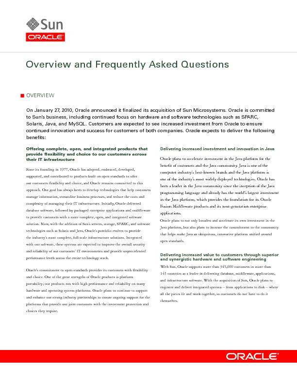 Overview and Frequently Asked Questions