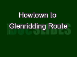 Howtown to Glenridding Route