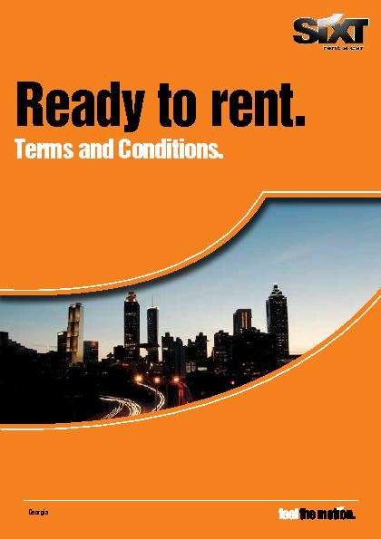 Ready to rent.Terms and Conditions.Georgia