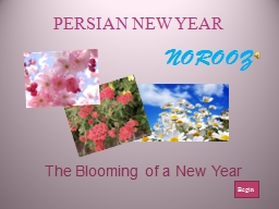 The Blooming of a New Year PowerPoint PPT Presentation