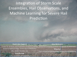 Integration of Storm Scale Ensembles, Hail Observations, an