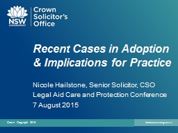 Recent Cases in Adoption & Implications for Practice