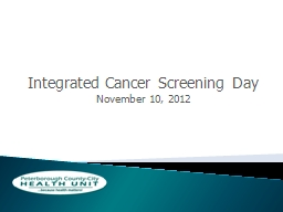 Integrated Cancer Screening Day