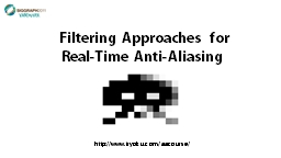 Filtering Approaches for