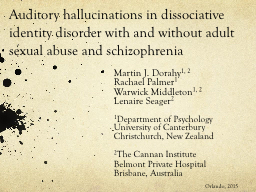Auditory hallucinations in dissociative identity disorder w