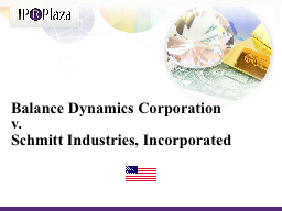Balance Dynamics Corporation PowerPoint PPT Presentation